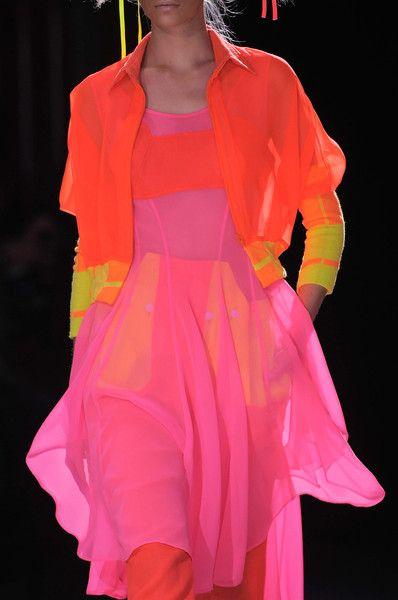 love neons for the summer - Yohji Yamamoto Spring 2014