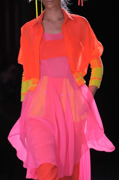 Yohji Yamamoto Spring 2014 - at last! Colours to make the heart sing!