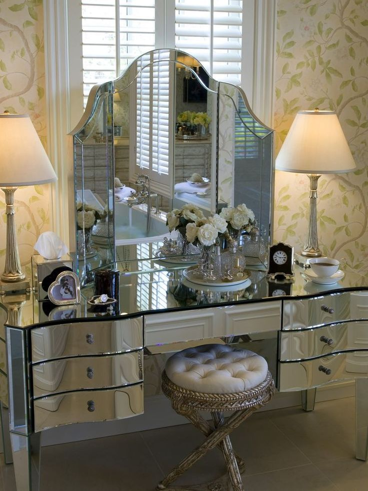 Best  Mirrored Vanity Ideas On Pinterest Mirrored Vanity - Mirrored makeup vanity set