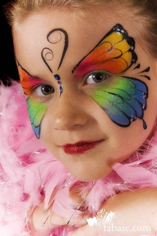 butterfly face paint   إحذروا الرسم على وجه الأطفال..