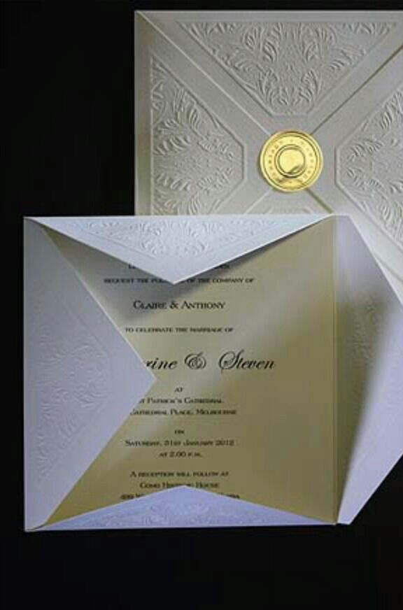 17 Best images about Embossed Wedding cards