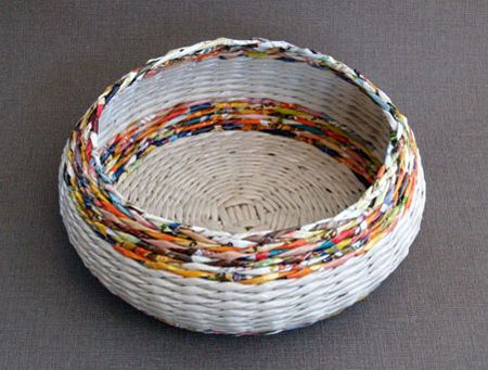 basket #weaving with newspaper #diy