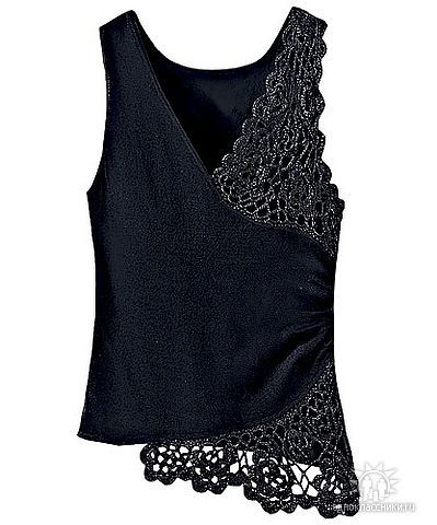 ideas - I can probably do some freeform crochet on a tank like this... would take some time to make it though.