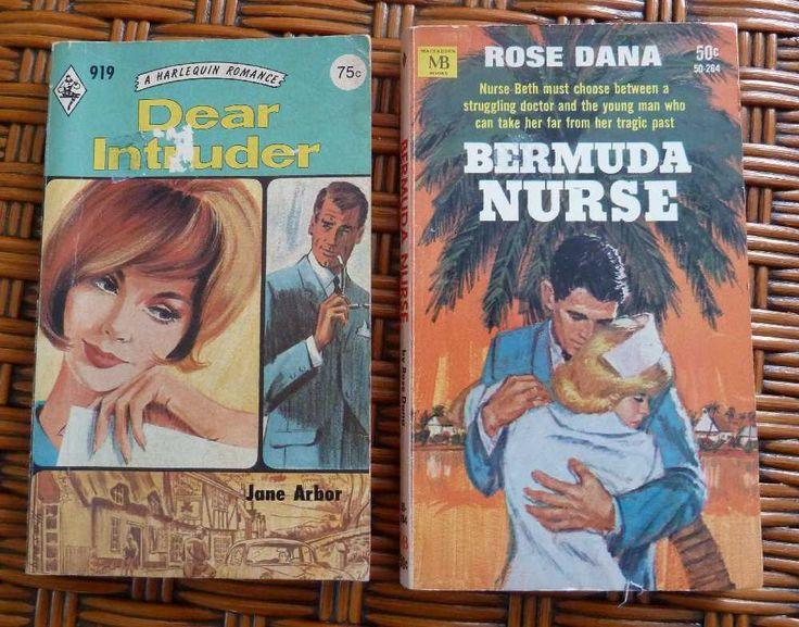 1960s Vintage Romance Novels PB Harlequin Romance Two Books by gypsytejas on Etsy