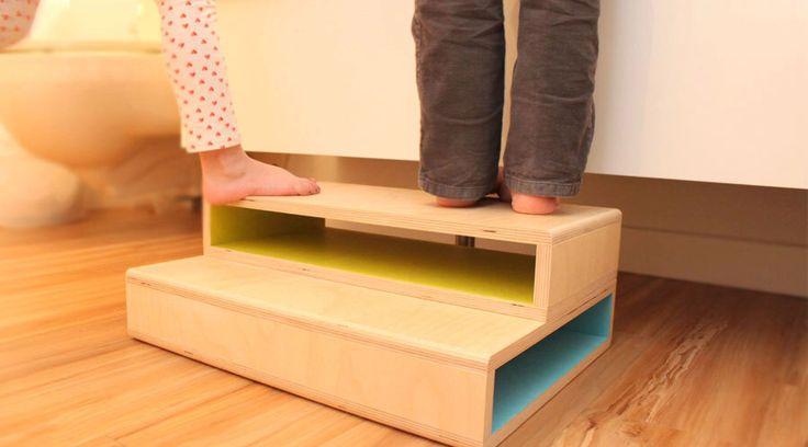 StepUp II - A Modern step stool designed for two kids by SpringModern on Etsy https://www.etsy.com/listing/126797761/stepup-ii-a-modern-step-stool-designed