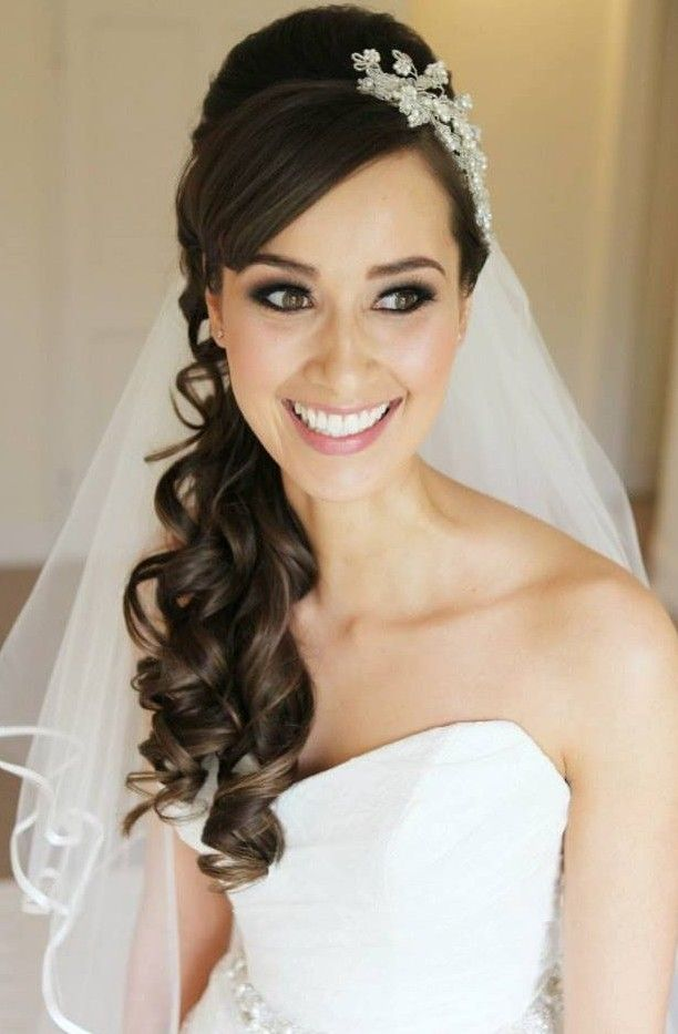Incredible 1000 Ideas About Wedding Hairstyles Veil On Pinterest Wedding Hairstyles For Women Draintrainus
