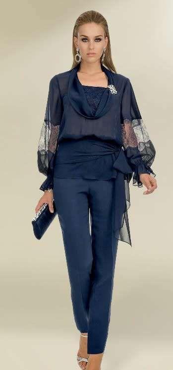 Idee abiti da cerimonia con pantaloni 2013 - Completo blu notte di Luisa Spagnoli
