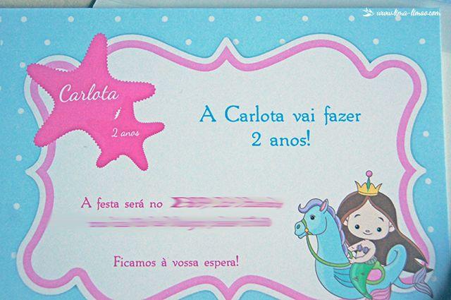 Lima Limão - festas com charme: Kit aniversário: a sereia da Carlota!
