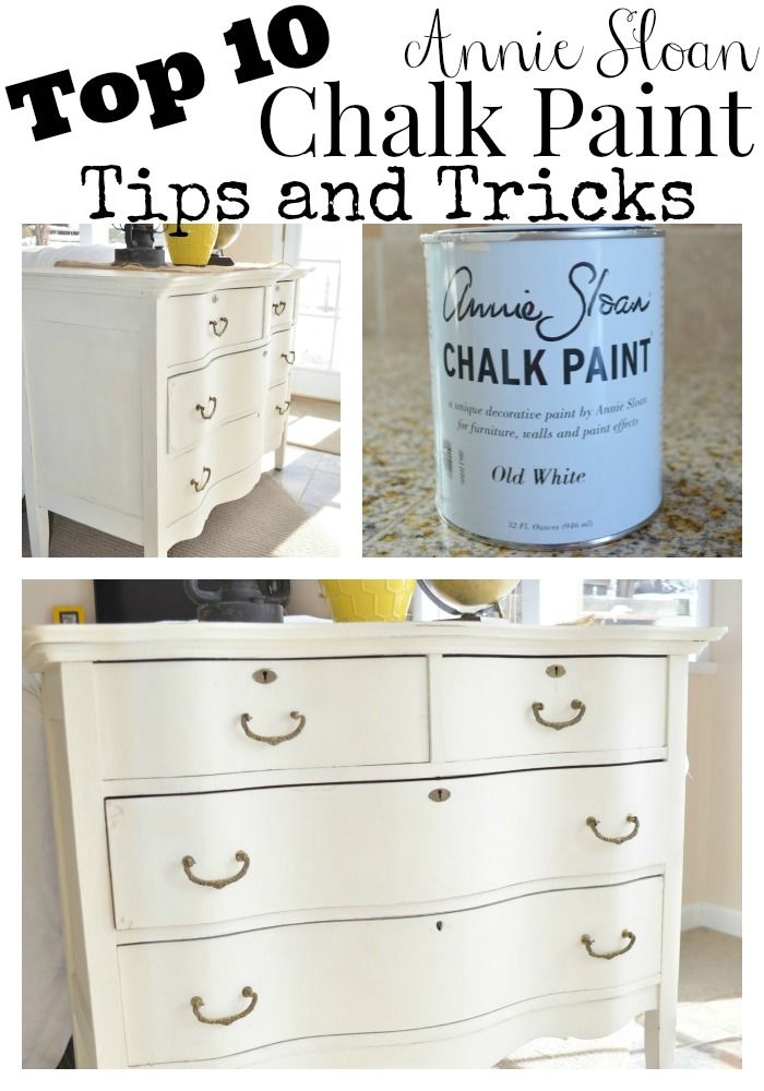 Top 10 Chalk Painting Tips & Painted Dresser