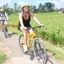 Bali cycling tour pass beautiful rice terrace field. #balicycling #balirafting #baliraftingandbalicycling #baliactivities #balitour
