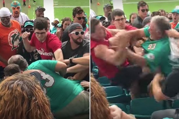 Brutal mass brawl in stands caught on camera at NFL match #brutal #brawl #stands #caught #camera #match