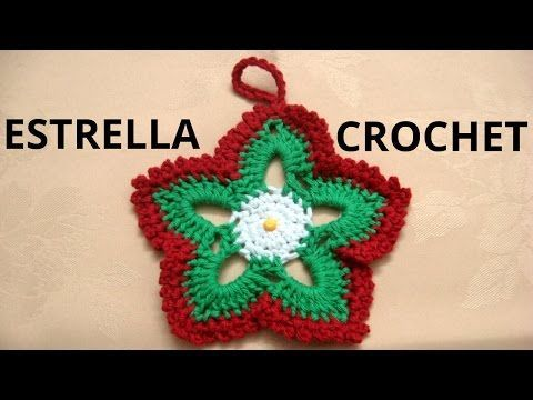 Cómo tejer estrellas de Navidad en tejido crochet tutorial paso a paso | Manualidades