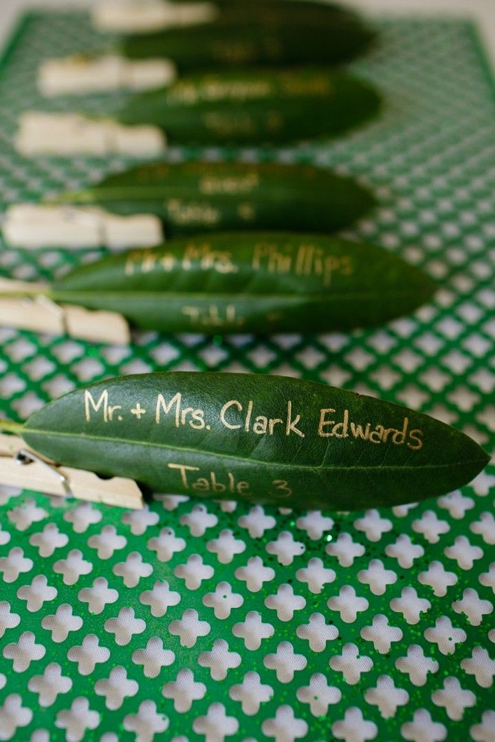green color wedding ideas - table number