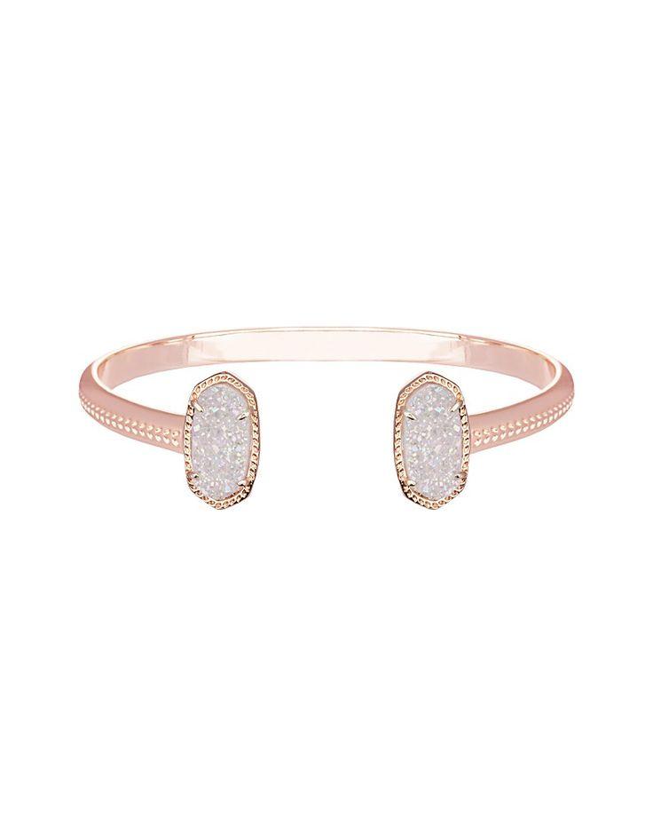 Elton Rose Gold Bracelet in Iridescent Drusy - Kendra Scott Jewelry.
