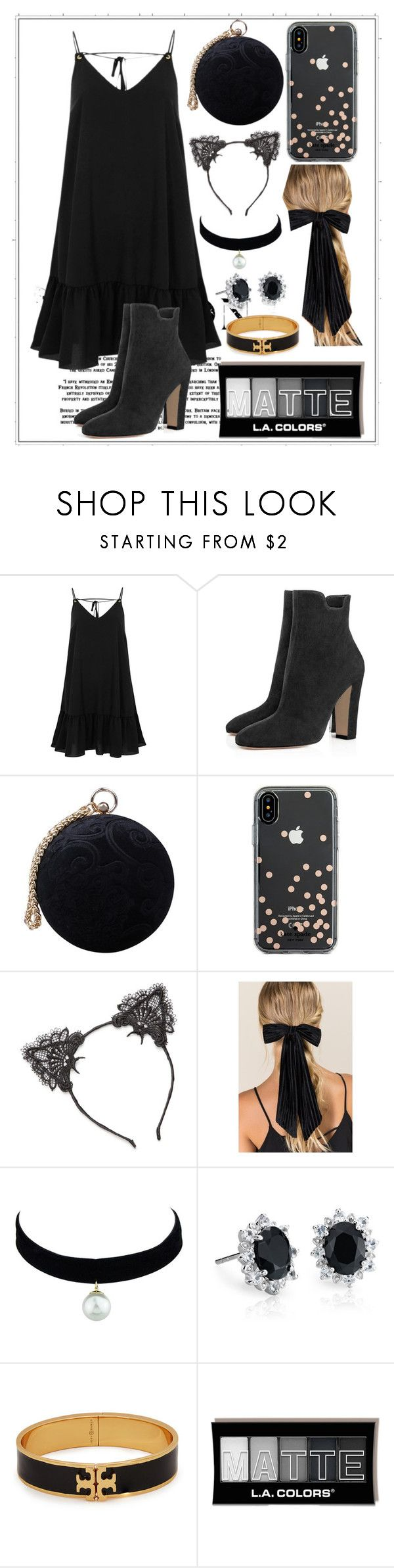 """""""067"""" by holography ❤ liked on Polyvore featuring River Island, Carvela, Kate Spade, True Craft, Francesca's, Blue Nile and Tory Burch"""