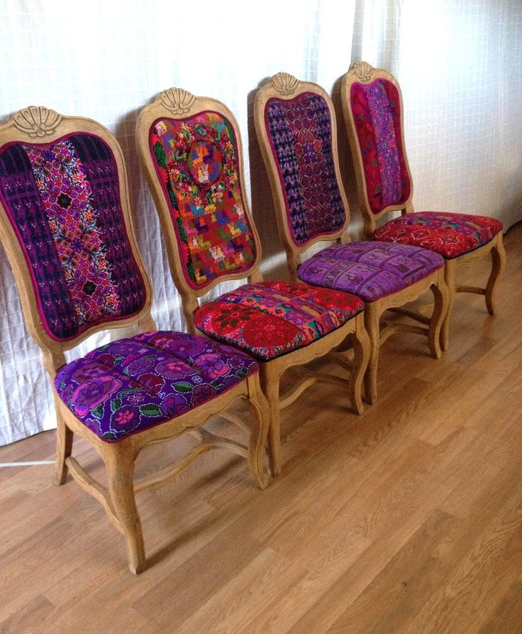 Colorful Kitchen Chairs: Folk Project Features Chairs Using Mexican Textiles And