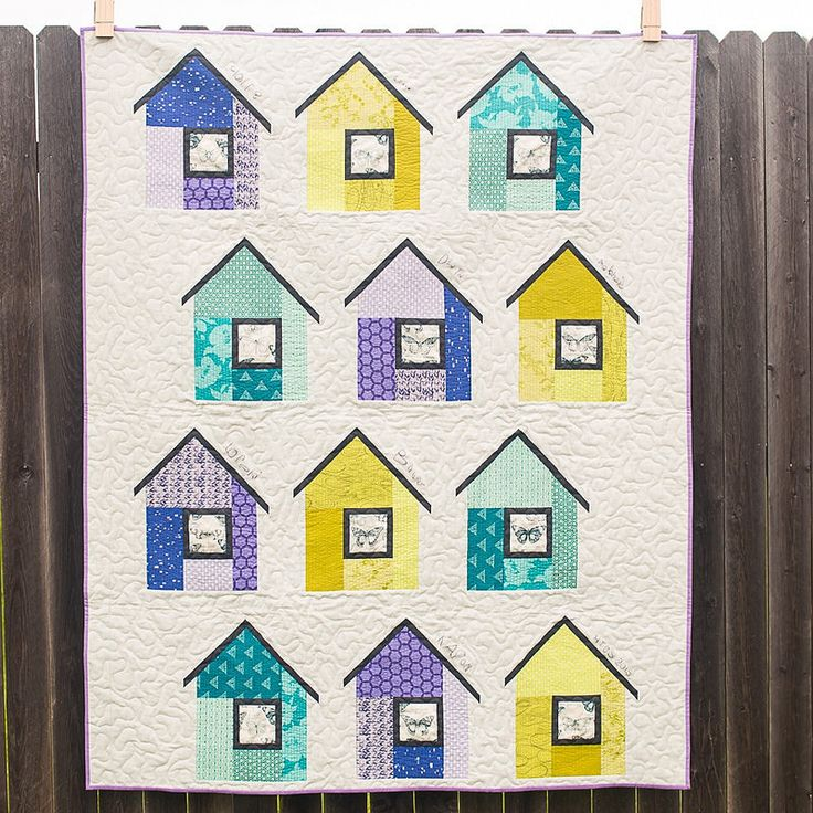 460 best House quilts images on Pinterest | Sheds, Baby blankets ... : quilt house patterns - Adamdwight.com