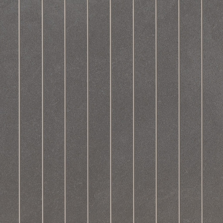 Feature Tile 01 (Horizontal Lines)    Exile Charcoal Lappato Scored 300 x 300 - 1870131    Available at Beaumont Tiles