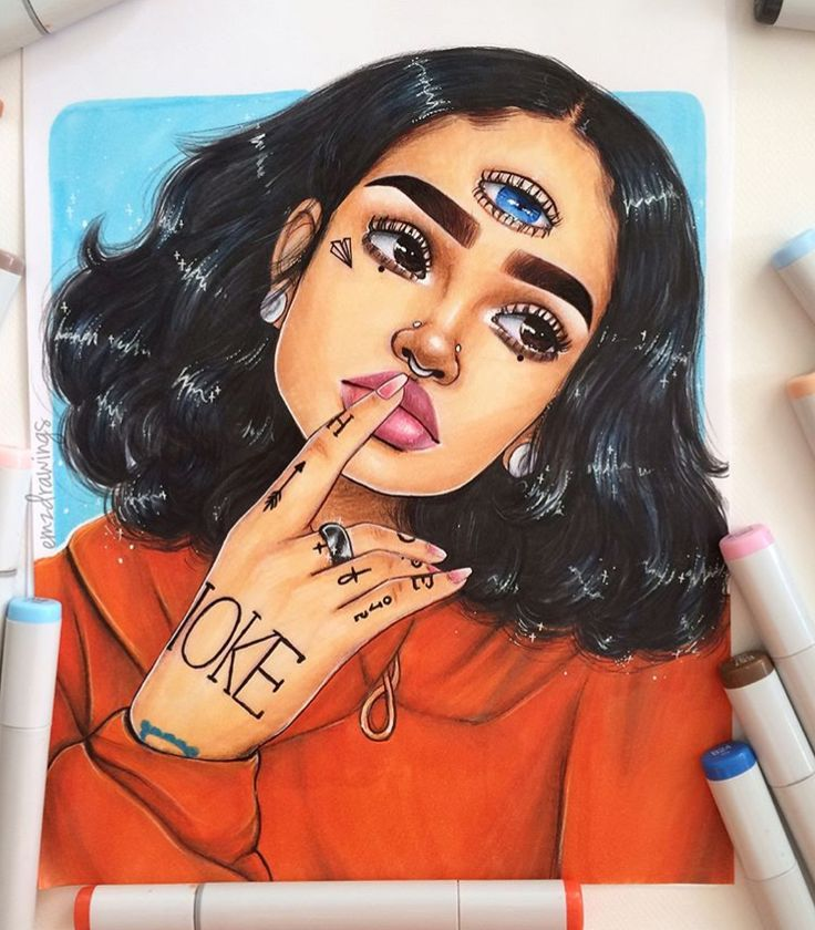 Black People Copic Marker