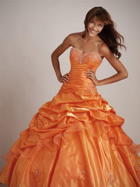 orange wedding dress | Orange Wedding Dresses