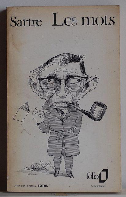 """Les mots, Jean Paul Sartre """"Longtemps j'ai pris ma plume pour une épée: à présent je connais notre impuissance. N'importe: je fais, je ferai des livres; il en faut; cela sert tout de même."""""""
