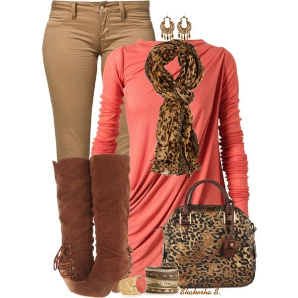 A fashion look from October 2013 featuring orange shirt, slim jeans and slouch boots. Browse and shop related looks.