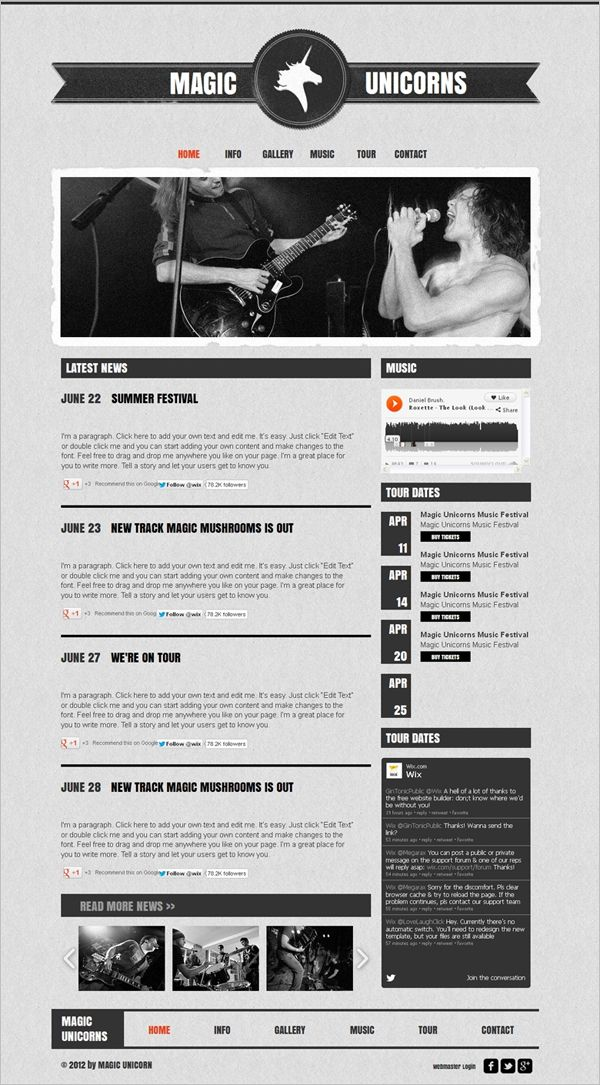 12 Best Free Music Band Templates