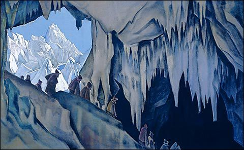 Chud the Subterranean Nicholas Roerich, 1928 or 1929 Tempera on canvas 89 x 148 cm
