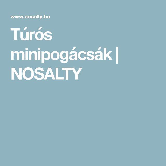 Túrós minipogácsák | NOSALTY