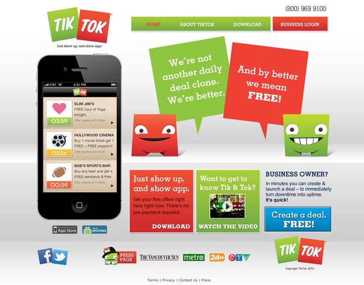 Design of the TikTok brand and website.