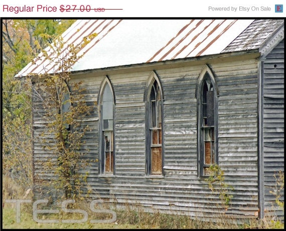 ON SALE SALE Old Wooden Church 2  8 x 12 by PhotographybyTess, $21.60