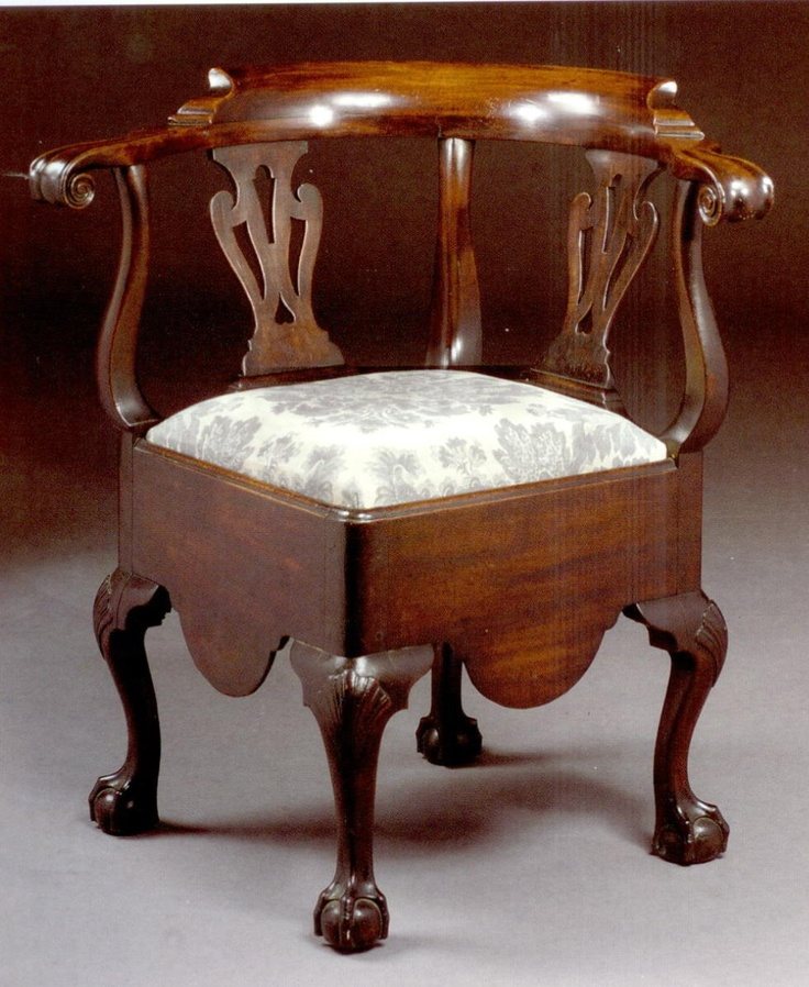 A Chippendale Carved and Figured Mahogany Roundabout Convenience Chair,  Mid-Atlantic, Circa 1770 · Corner ChairVintage ... - 115 Best Chair Corner Images On Pinterest Corner Chair, 18th