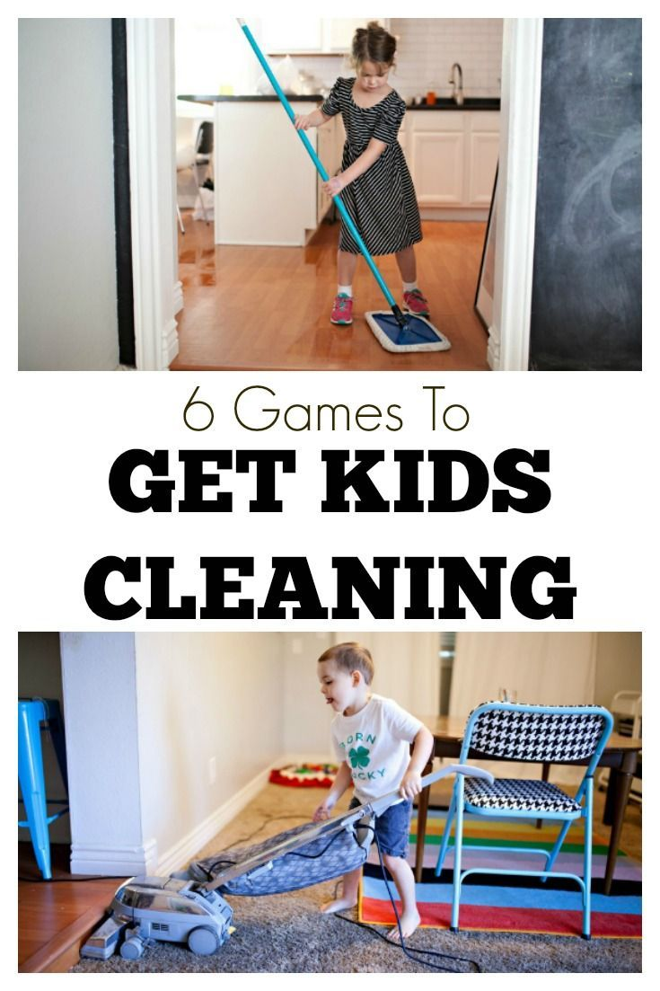 6 games to get kids cleaning
