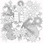 Раскраски детские книги с иллюстрациями декоративные цветочные декоративные элементы — стоковое фото #110089140