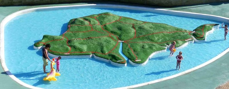 Isle of Wight map paddling pool, Ventnor, Isle of Wight, England - I remember paddling in this when I was eight!