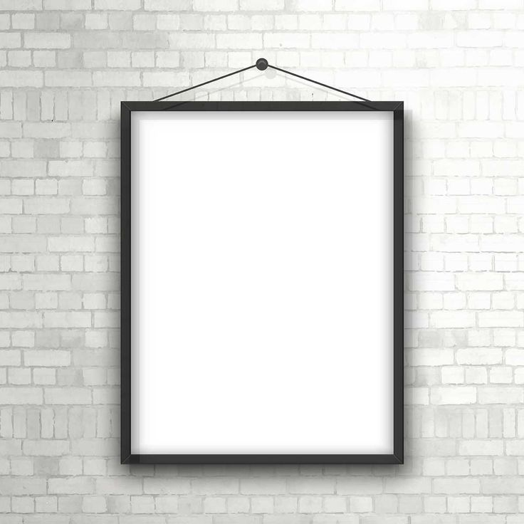 Blank Picture Frame Hanging On A Brick Wall - FREE