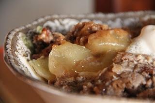 Spice Cake, Apple Pie filling, and ice Cream= Apple spice Cobbler!