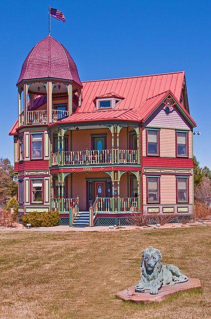 A Victorian style house in the White Mountains of Arizona: Snowflake, Arizona; photo by John Fowler