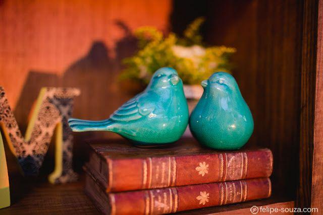 Decoração casamento Rústico Chic. Detalhes em azul, pombinhos.