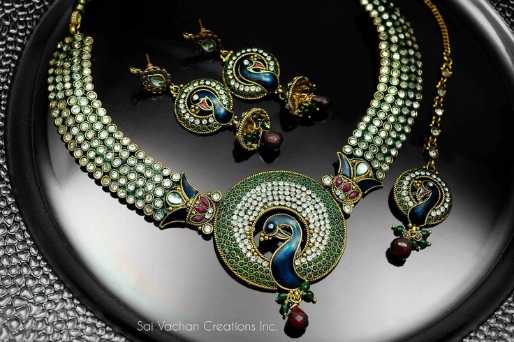 Sai Vachan Creations provides a complete range of unique and handmade traditional kundan jewellery, rani har, earring, bracelet, mala pendent set in India, UK, USA and Canada. http://www.saivachan.com/shop-online/banglesbracelets