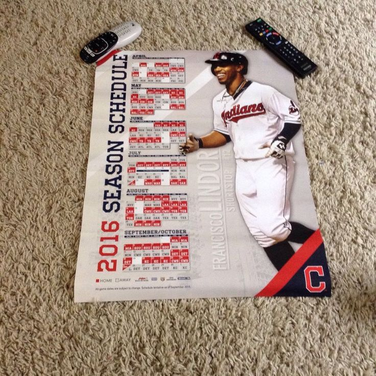 francisco lindor cleveland indians 2016 schedule large poster 2015 sga from $5.0
