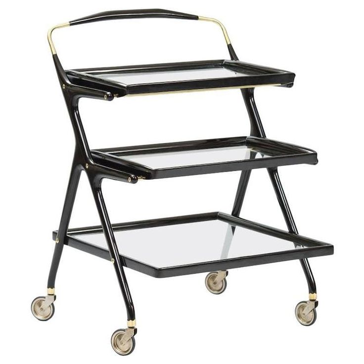 Cesare Lacca Bar Cart for Cassina | From a unique collection of antique and modern bar carts at https://www.1stdibs.com/furniture/tables/bar-carts/