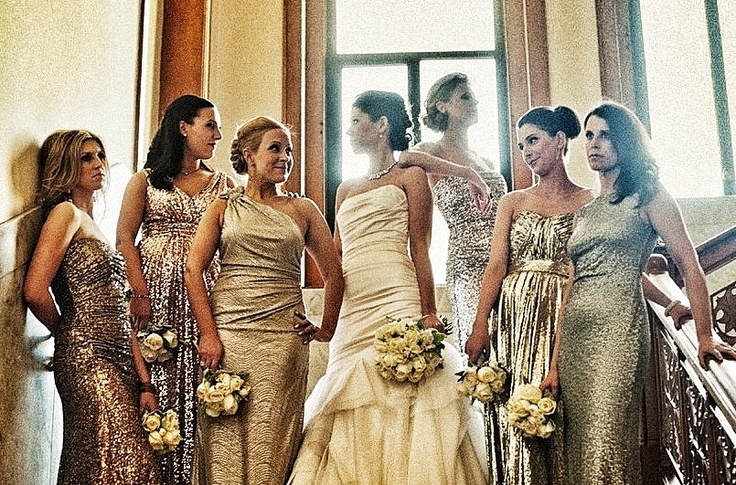 Glam Bridesmaids Dresses from Rent The Runway! - Steph&-39-s Wedding ...