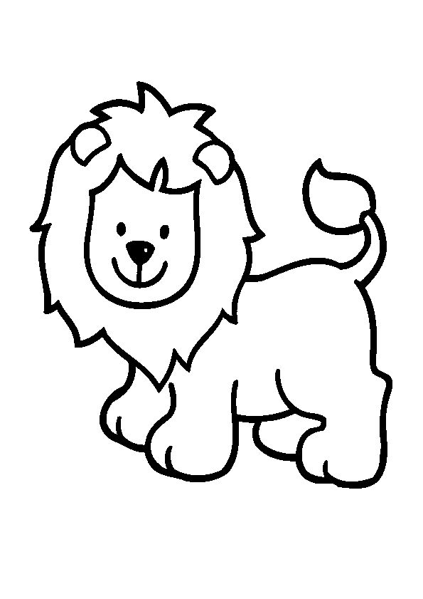 Petits Lion Coloring Pages