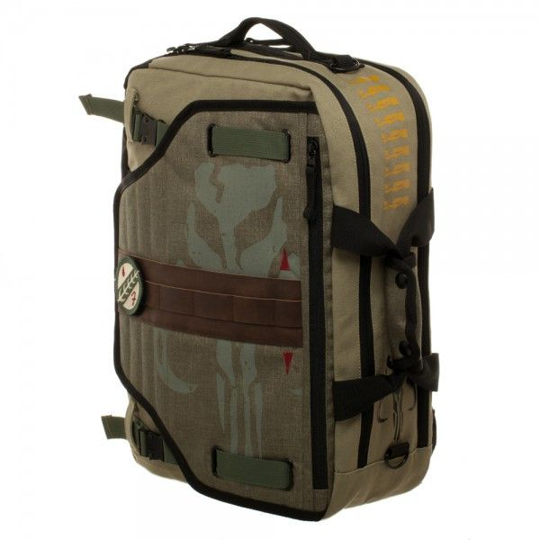 Star Wars Boba Fett Convertible Bag Bounty hunters of Mandelore, prepare yourselves for a new tool in your arsenal more useful than a jetpack. This bag gives you the space you need to keep all your ge