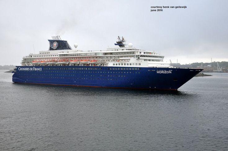 HORIZON. Ιδιοκτησία: Pullmantur Cruises - Spain. (Beneficial owner: Pullmantur - Spain). Διαχείρηση: Croisires de France. Horizon 1990 ~ 2005. Island Star 2005 ~ 2008. Pacific Dream 2008 ~ 2010. 2011 ~ present, today's name. Παρθενικό ταξίδι στις 30/04/1990. 47.427 GT ~ 207,60 μ.μ. ~ 29 μ.πλάτος ~ 9 κατ/τα ~ 19 ~ 21,4 knots ~ 1.442 ~ 1.828 επ. ~ 620 ατ.πλ.