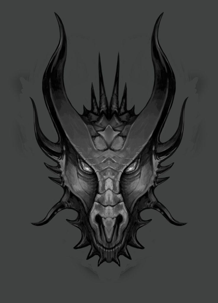 dragon 39 s head sketch 02 by lawrencemann on deviantart dragons pinterest dragon face. Black Bedroom Furniture Sets. Home Design Ideas