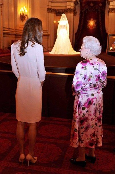Catherine, Duchess of Cambridge and Queen Elizabeth II.