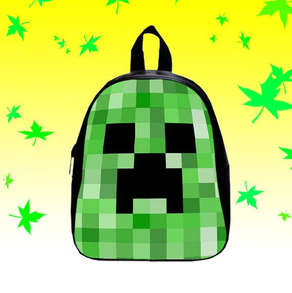 Minecraft Creeper Cute   Backpack/SchoolBags for by FACIALBAG