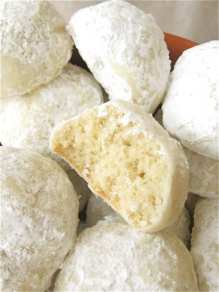 Mexican Wedding Cookies (King Arthur Flour). A must make during the Holidays. See also: http://www.epicurious.com/recipes/food/views/Mexican-Wedding-Cakes-108073 http://www.foodnetwork.com/recipes/paula-deen/mexican-wedding-cookies-recipe4.html